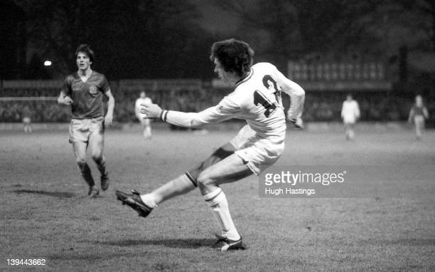Colin Lee of Chelsea in action during the Division 2 match between Shrewsbury Town and Chelsea at the Gay Meadow Stadium on January 1 1983 in...