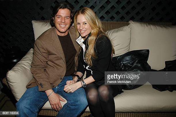 Colin McCabe and Rebekah McCabe attend THE CINEMA SOCIETY HUGO BOSS after party for FRACTURE at Gramercy Park Hotel on April 17 2007 in New York City