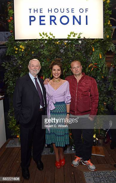 Colin Mcdowell Margherita Maccapani Missoni and Juergen Teller are pictured at The House of Peroni Residency at Proud East in Haggerston on May 18...