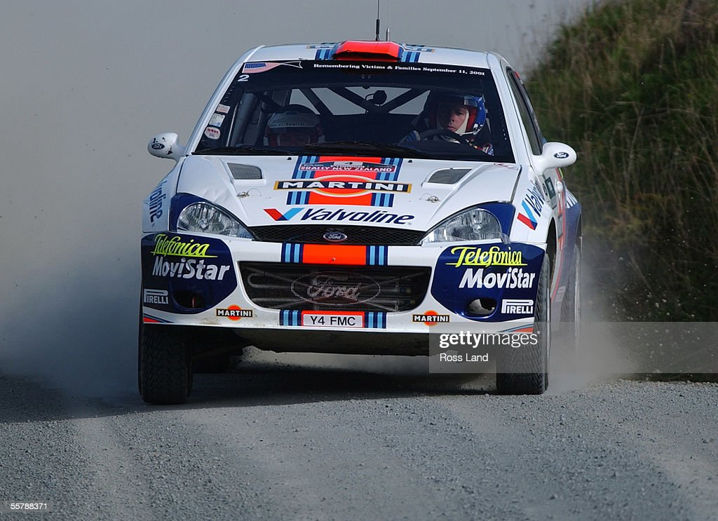 Colin McRae (GB) and codriver Nick Grist power the : News Photo