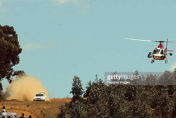 Colin McRae and codriver Nicky Grist of Great Britain compete in their Skoda Fabia during Leg 2 of the WRC Telstra Rally Australia on November 12...