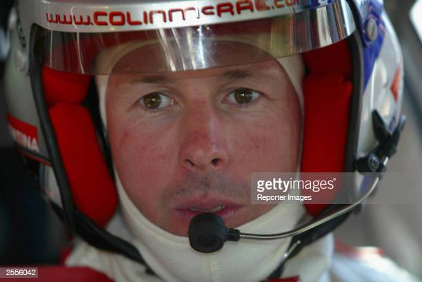 Colin Mcrae of Great Britain and Citroen is seen during the shakedown of the 2003 San Remo Rally round eleven of the World Rally Championship October...