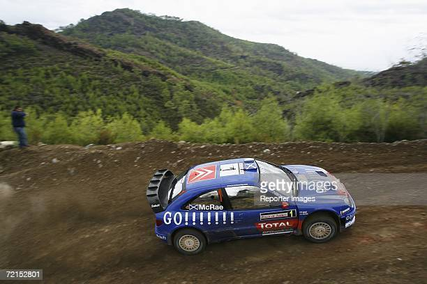 Colin McRae of Great Britain and Daniel Elena of Monaco drive their Citroen Xsara WRC during the Rally of Turkey 2006 Shakedown on October 12 2006 in...