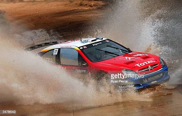 Colin Mcrae of Great Britain and the Citroen World Rally Team in action during the 2003 Rally Australia which is round 10 of the World Rally...