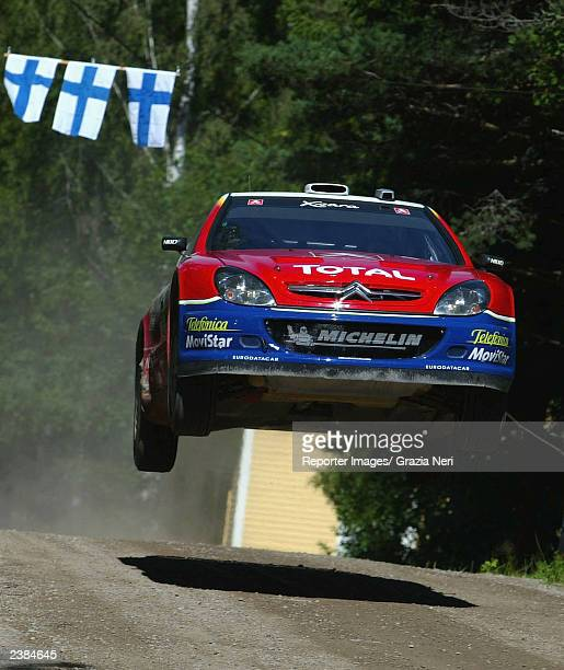 Colin McRae of Great Britain drives his Citreon Xsara during the second leg of the WRC Rally of Finland on August 9 2003 in Finland