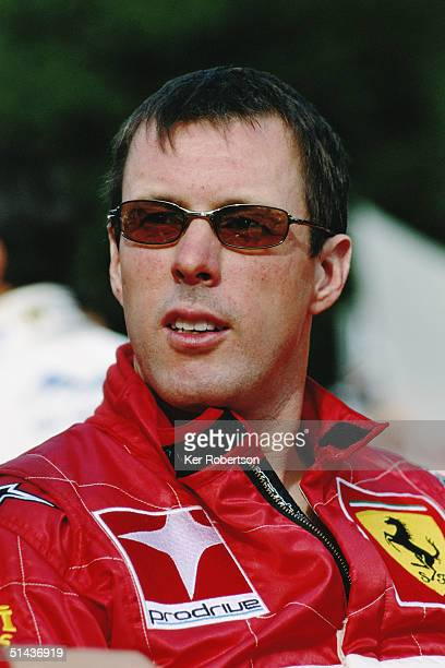 Colin McRae of Scotland and the Prodrive Ferrari team before the start of the Le Mans 24 Hour race at the Circuit des 24 Hours du Mans on June 12...