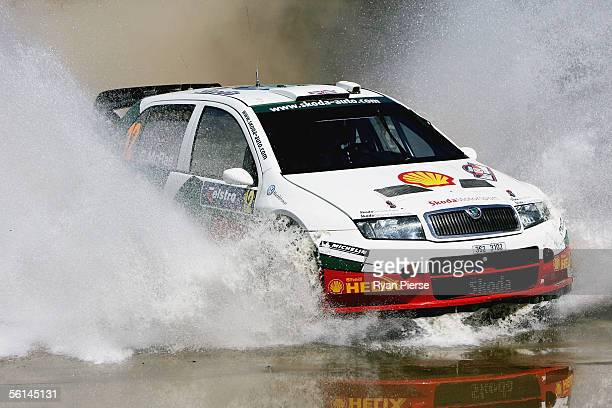 Colin McRae of Scotland and the Skoda Rally Team in action during Rally Australia which is Round 16 of the FIA World Rally Championship at Wespine...