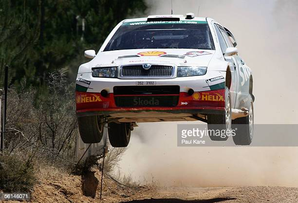 Colin McRae of Scotland and the Skoda Rally Team in action during Rally Australia which is Round 16 of the FIA World Rally Championships November 12...