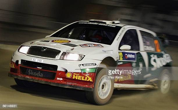 Colin McRae of Scotland and the Skoda Rally Team in action during Rally Australia which is Round 16 of the FIA World Rally Championships at...