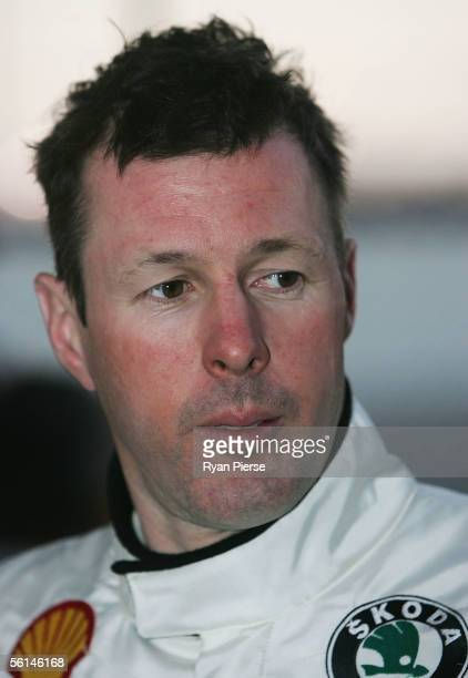 Colin McRae of Scotland and the Skoda Rally Team looks on during Rally Australia which is Round 16 of the FIA World Rally Championship at Gloucester...