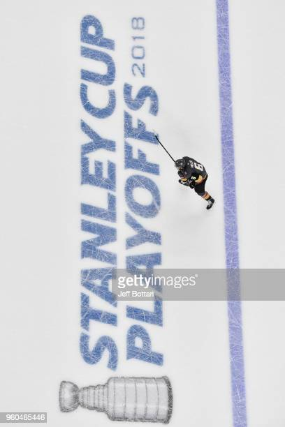Colin Miller of the Vegas Golden Knights skates against the Winnipeg Jets in Game Three of the Western Conference Final during the 2018 NHL Stanley...