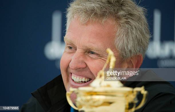 Colin Montgomerie gives a press conference on October 6 2010 ahead of the October 7 opening of 10th Alfred Dunhill Links Golf Championship at The Old...