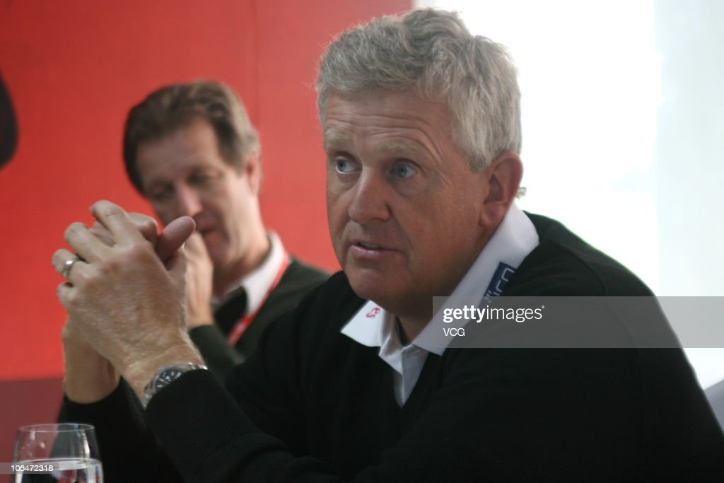 Colin Montgomerie of Scotland attends a press conference prior to the start of the WGC-HSBC Champions at Sheshan International Golf Club on November 3, 2010 in Shanghai, China.