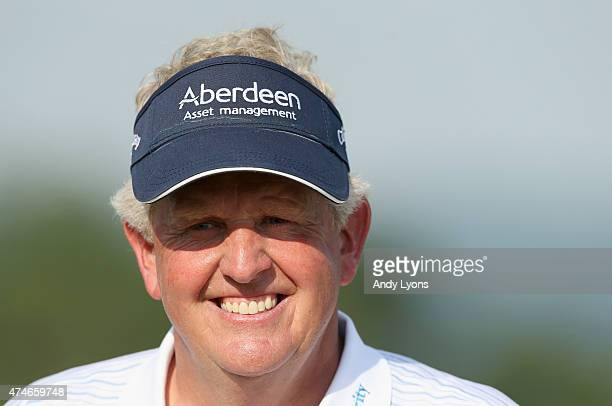Colin Montgomerie of Scotland is all smiles after winning the Senior PGA Championship Presented By KitchenAid at the Pete Dye Course at the French...