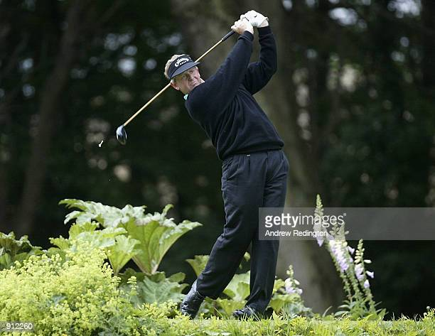 Colin Montgomerie of Scotland on the 17th hole during the first round of the Smurfit European Open played at The K Club Ireland on July 4 2002