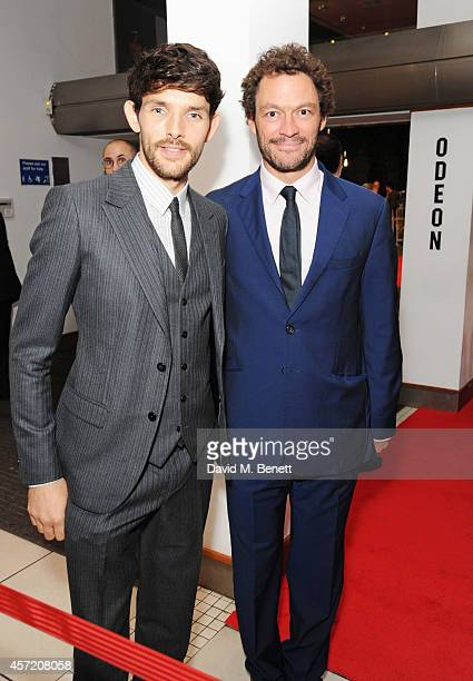Colin Morgan and Dominic West attend a screening of 'Testament of Youth' during the 58th BFI London Film Festival at Odeon Leicester Square on...