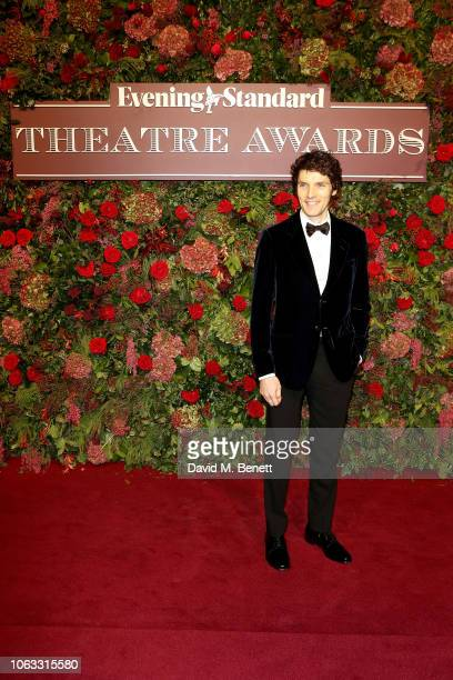 Colin Morgan arrives at The 64th Evening Standard Theatre Awards at the Theatre Royal Drury Lane on November 18 2018 in London England