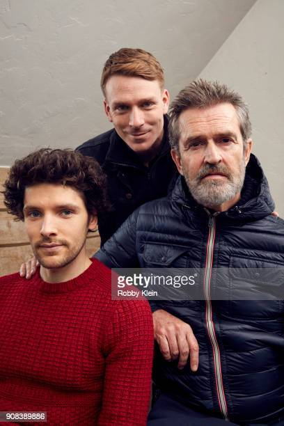 Colin Morgan Edwin Thomas and Rupert Everett from the film 'The Happy Prince' poses for a portrait in the YouTube x Getty Images Portrait Studio at...