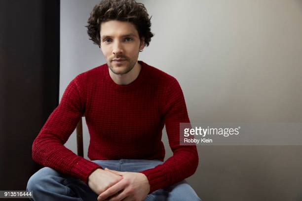 Colin Morgan from the film 'The Happy Prince' poses for a portrait in the YouTube x Getty Images Portrait Studio at 2018 Sundance Film Festival on...