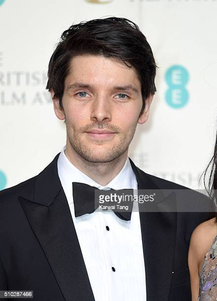 Colin Morgan poses in the winners room at the EE British Academy Film Awards at The Royal Opera House on February 14 2016 in London England