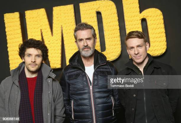 Colin Morgan Rupert Everett and Edwin Thomas of 'The Happy Prince' attend The IMDb Studio and The IMDb Show on Location at The Sundance Film Festival...
