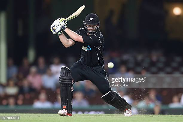 Colin Munro of New Zealand bats during game one of the One Day International series between Australia and New Zealand at Sydney Cricket Ground on...