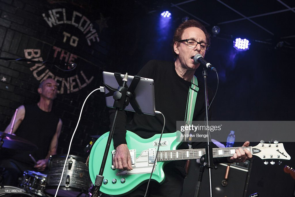 Colin Newman and Robert Gotobed of Wire perform on stage at Brudenell Social Club on September 19, 2013 in Leeds, England.