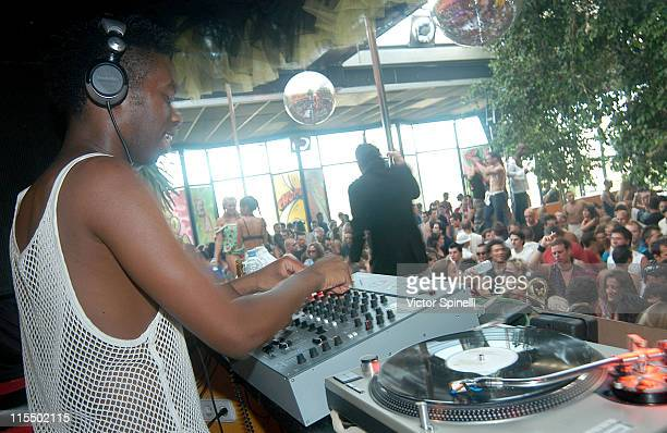 DJ Colin Peters during Manumission's 10th Birthday Party at Privilege in Ibiza Spain