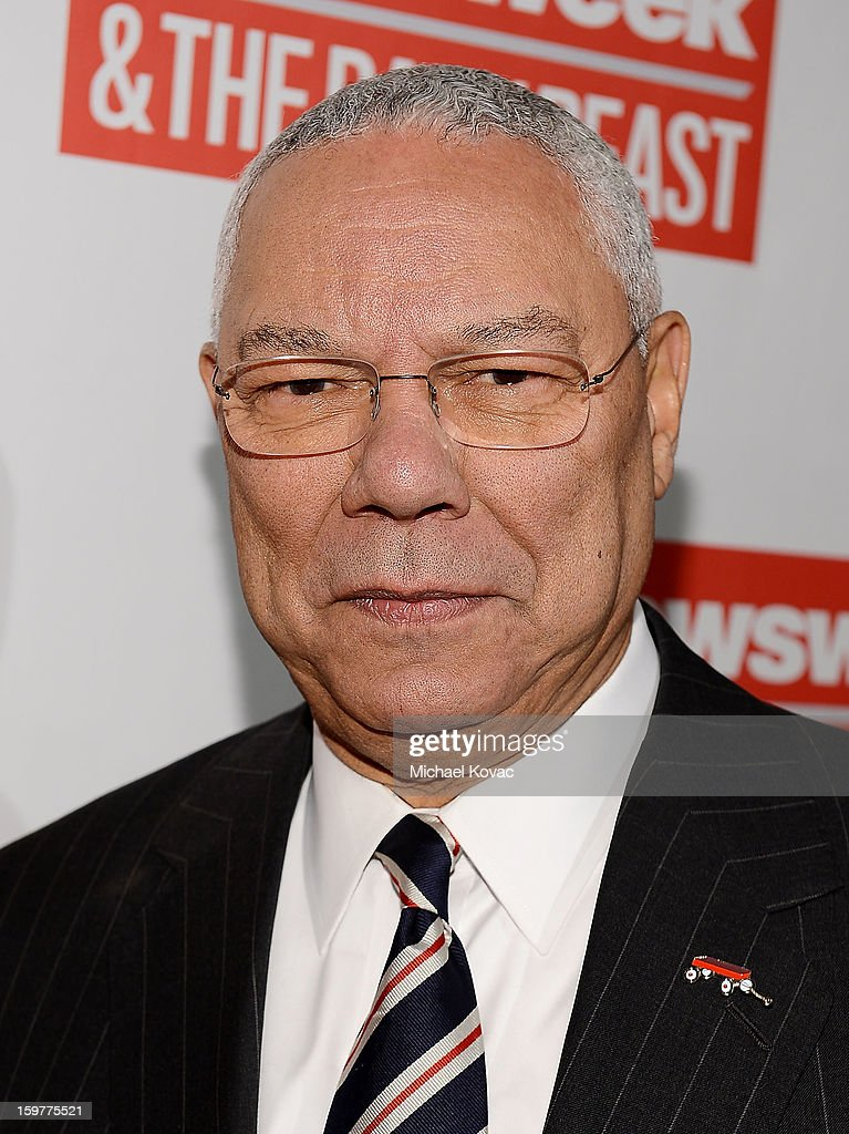 Colin Powell attends The Daily Beast Bi-Partisan Inauguration Brunch at Cafe Milano on January 20, 2013 in Washington, DC.