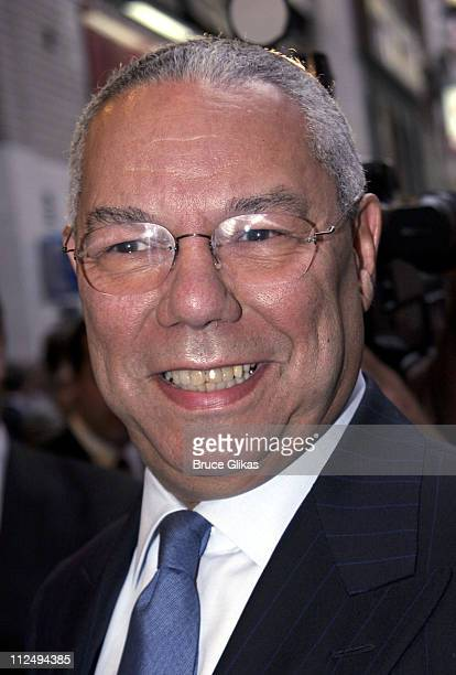 """Colin Powell during """"On Golden Pond"""" Opening Night on Broadway - Arrivals at The Cort Theater in New York City, New York, United States."""