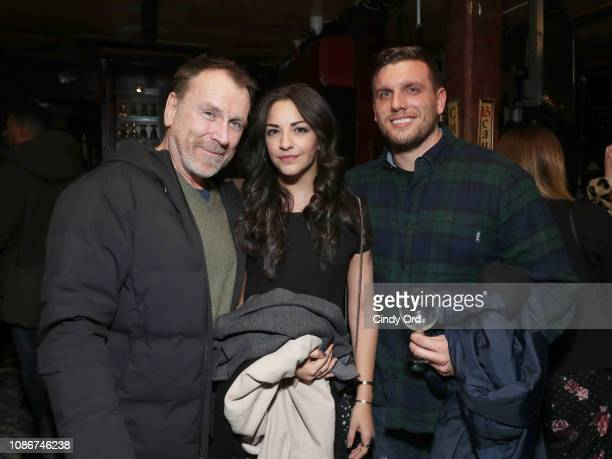 Colin Quinn Ana Villafane and Chris Distefano attend the opening night after party for Colin Quinn Red State Blue State on January 22 2019 in New...