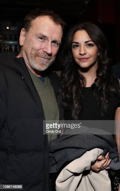 Colin Quinn and Ana Villafane attend the opening night after party for Colin Quinn Red State Blue State on January 22 2019 in New York City