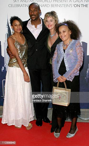 Colin Salmon and family during ENO Tribute To Leonard Bernstein at The London Coliseum in London Great Britain