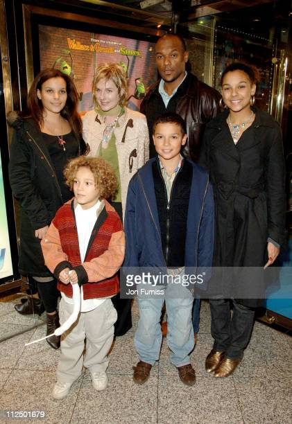 Colin Salmon and Family during 'Flushed Away' London Premiere Inside Arrivals at Empire Leicester Square in London Great Britain