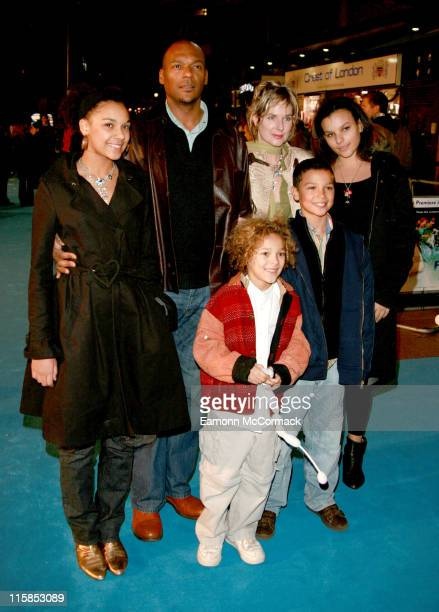 Colin Salmon and Family during 'Flushed Away' London Premiere Outside Arrivals at Empire Leicester Square in London Great Britain