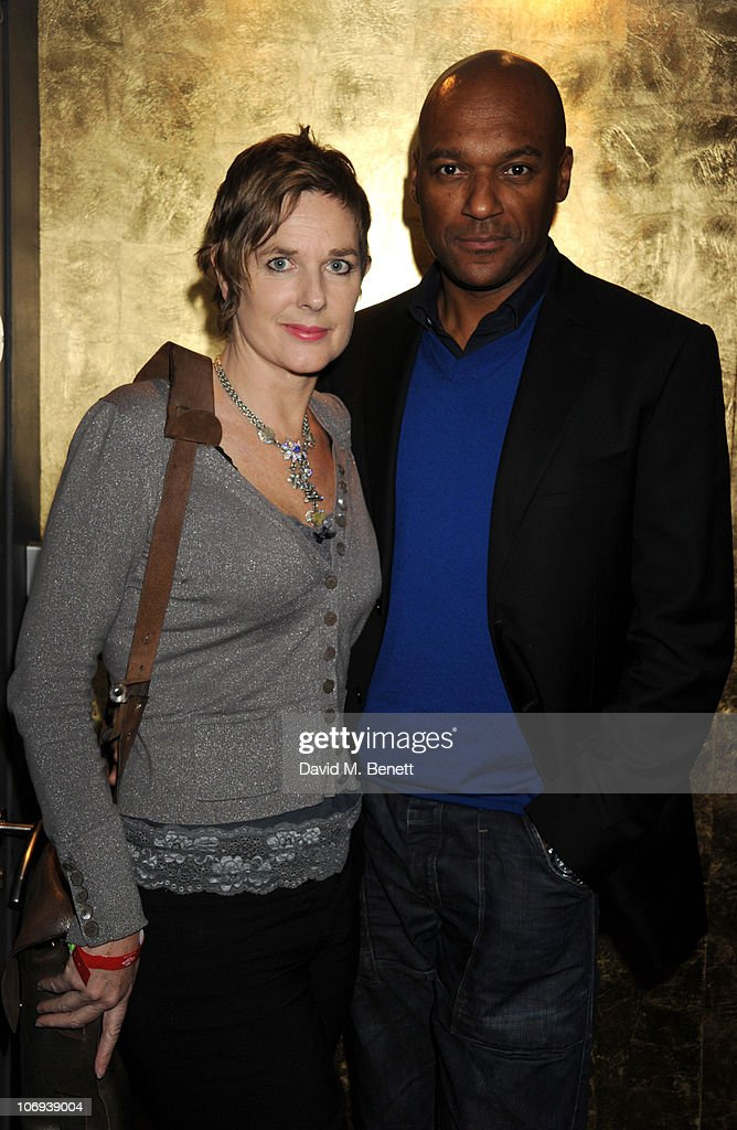 Colin Salmon and Fiona Hawthorne attend the afterparty following The Prince's Trust Rock Gala 2010 supported by Novae at The Baglioni Hotel on November 17, 2010 in London, England.