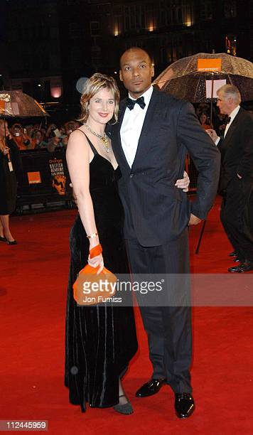 Colin Salmon and guest during The Orange British Academy Film Awards 2006 Outside Arrivals at Odeon Leicester Square in London Great Britain