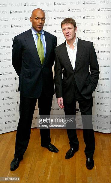 Colin Salmon and Sean Bean during First Light Movies Awards 2007 Photocall at Odeon West End in London Great Britain