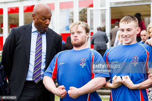 Colin Salmon attends a reception hosted by the US Ambassador Matthew Barzun at his residence at Winfield House to welcome the Special Olympics GB's...