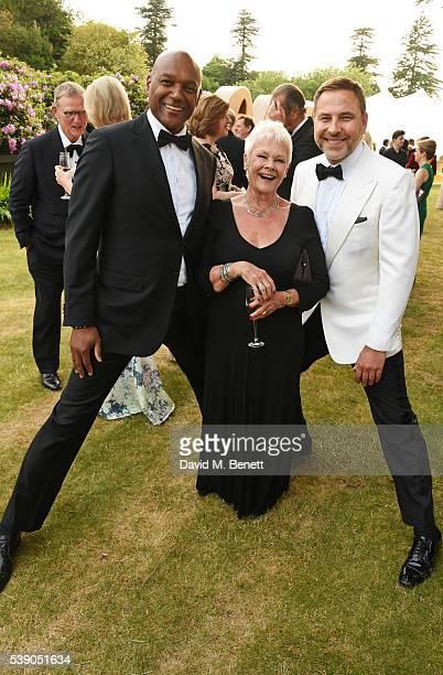 Colin Salmon Dame Judi Dench and David Walliams attend the Duke of Edinburgh Award 60th Anniversary Diamonds are Forever Gala at Stoke Park on June 9...