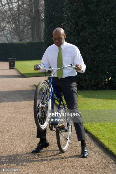 Colin Salmon during Pedal With The Parcs Photocall at The Orangery in London United Kingdom