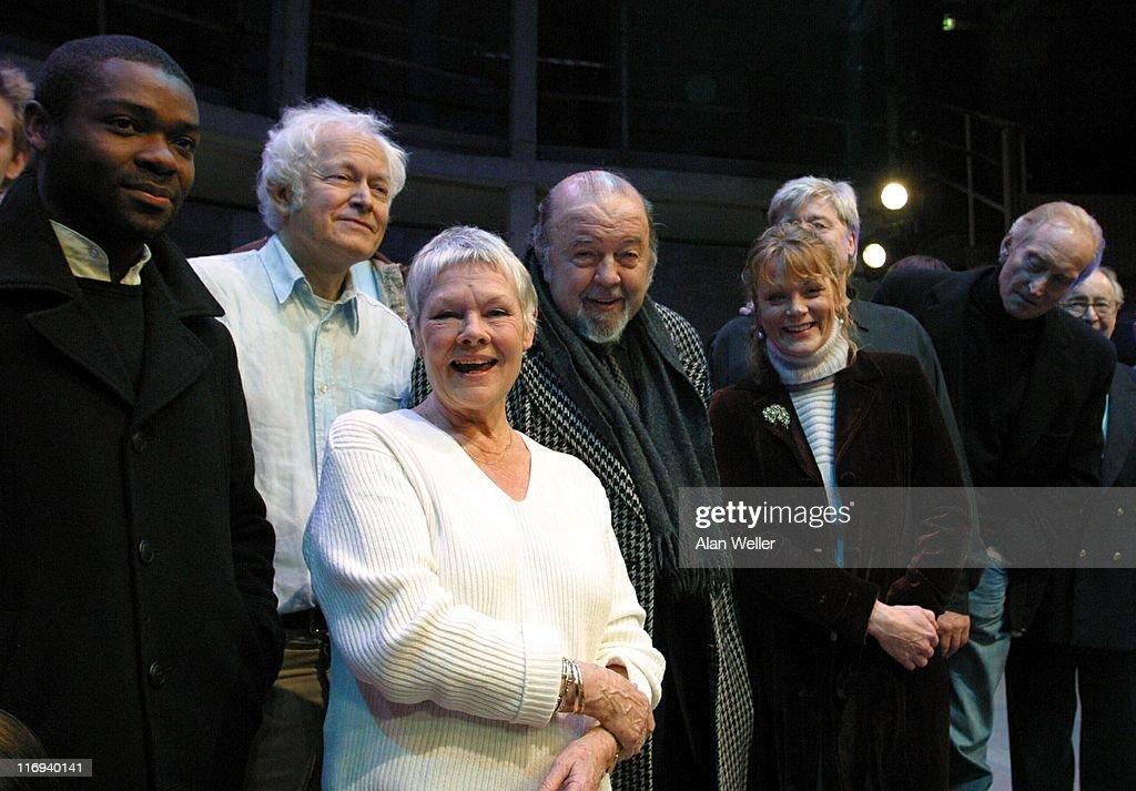 Colin Salmon, Michael Pennington, Judi Dench, Sir Peter Hall, Samantha Bond and Charles Dance
