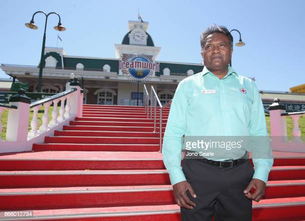 Colin Sivalingum from the Red Cross poses for a photo after attending a private memorial service inside Dreamworld on October 25 2017 in Gold Coast...