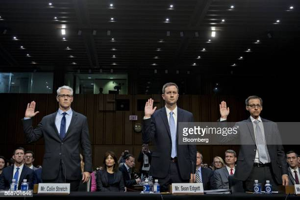 Colin Stretch general counsel with Facebook Inc from left Sean Edgett acting general counsel with Twitter Inc and Richard Salgado director of law...