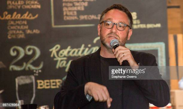 Colin Trevorrow speaks at the DGA Reception during 2017 Los Angeles Film Festival at City Tavern on June 16 2017 in Culver City California