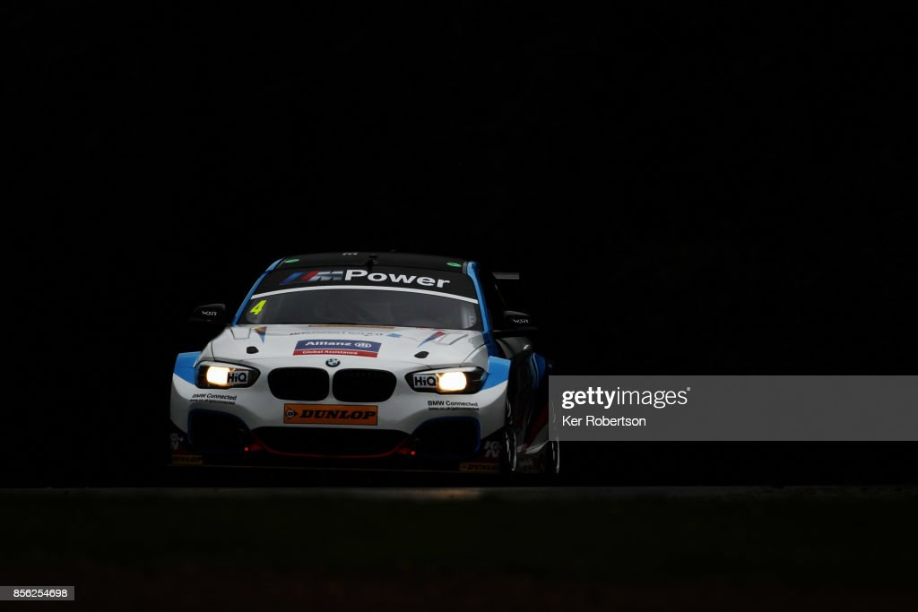Colin Turkington of Team BMW drives in race 1 during the British Touring Car Championship finale at Brands Hatch on October 1, 2017 in Longfield, England.