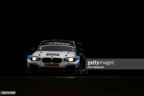 Colin Turkington of Team BMW drives in race 1 during the British Touring Car Championship finale at Brands Hatch on October 1 2017 in Longfield...