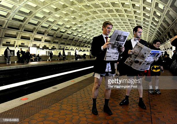 Colin VanDercreek and Jesse Helfrich read their paper as is it's a normal work day heading to the office They were participants in the annual No...