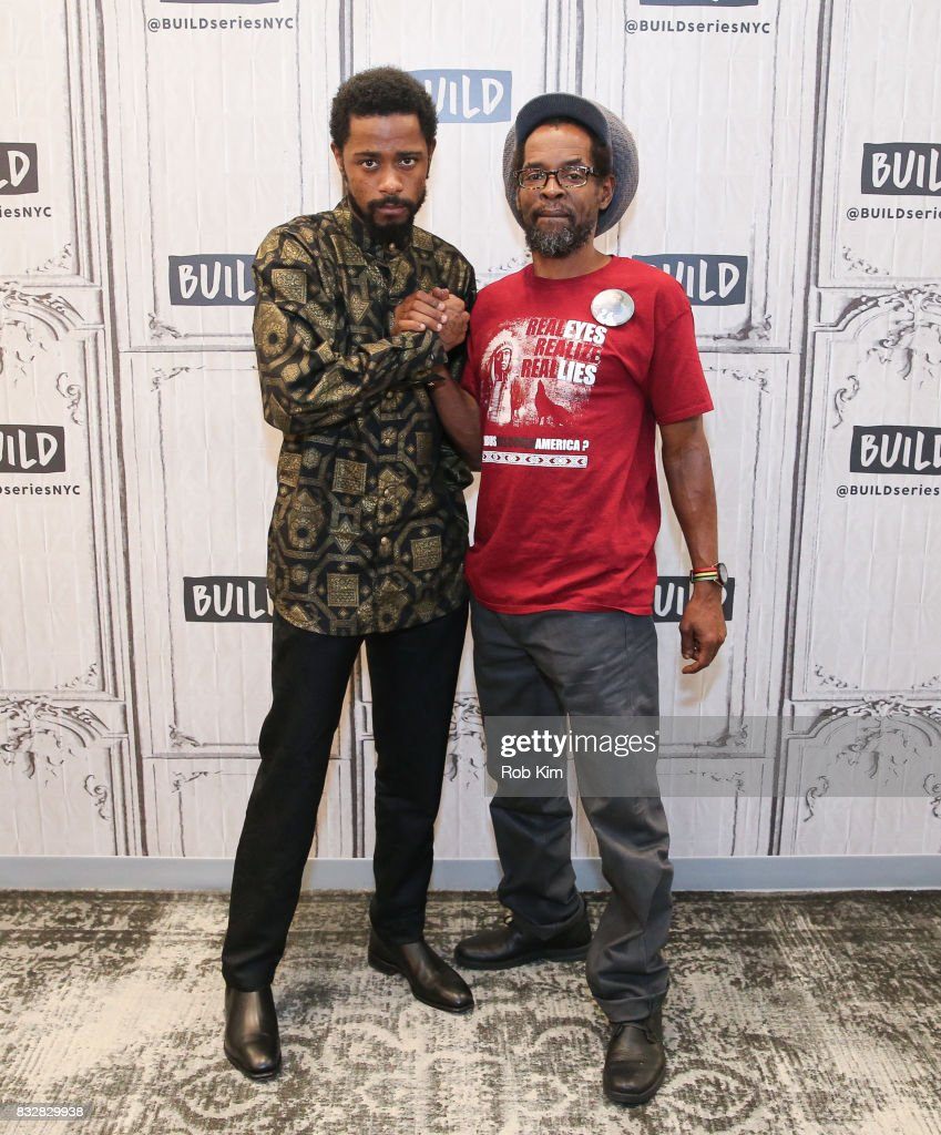 Colin Warner (R) and Lakeith Stanfield of 'Crown Heights' visit at Build Studio on August 16, 2017 in New York City.