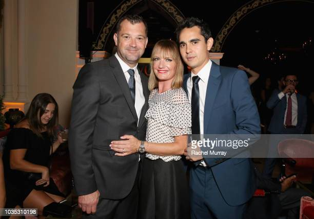 Colin Watkinson Jo Watkinson and Max Minghella attend Hulu's 2018 Emmy Party at Nomad Hotel Los Angeles on September 17 2018 in Los Angeles California